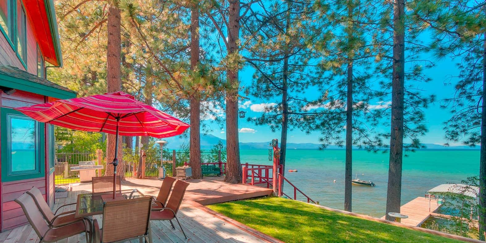 A house on the sea side of Lake Tahoe
